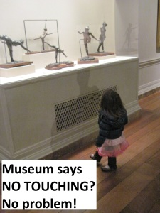 Engaging children in museums where touching is NOT allowed