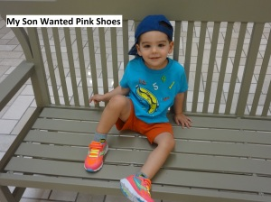 My son wanted pink shoes. Why did the shoe store say they were for girls